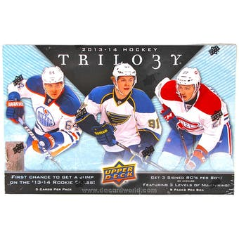 2013-14 Upper Deck Trilogy Hockey 4-Box- DACW Live 28 Spot Random Team Break #1