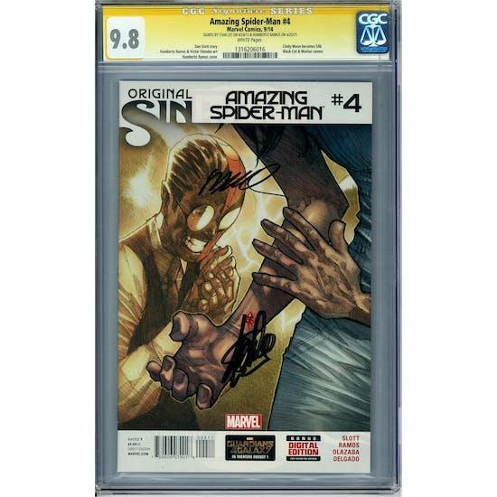 Amazing Spider-Man #4 CGC 9.8 Stan Lee Humberto Ramos Signature Series (W) *1316206016*