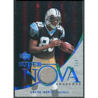 2007 Upper Deck Trilogy Supernova Swatches Platinum #DJ Dwayne Jarrett 1/3