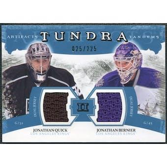 2011/12 Upper Deck Artifacts Tundra Tandems Jerseys Blue #TT2BQ Jonathan Quick Jonathan Bernier 25/225