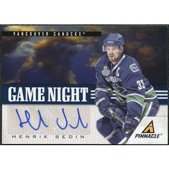 2011/12 Panini Pinnacle Game Night Signatures #37 Henrik Sedin Autograph