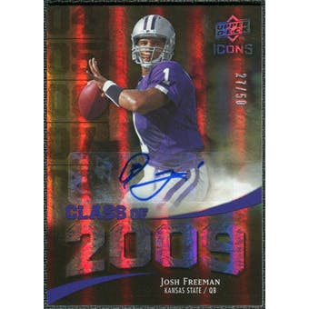 2009 Upper Deck Icons Class of 2009 Autographs #JF Josh Freeman Autograph /50