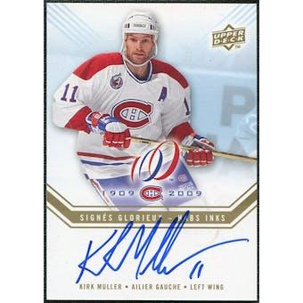 2008/09 Upper Deck Montreal Canadiens Centennial Habs INKS #HABSKM Kirk Muller Autograph