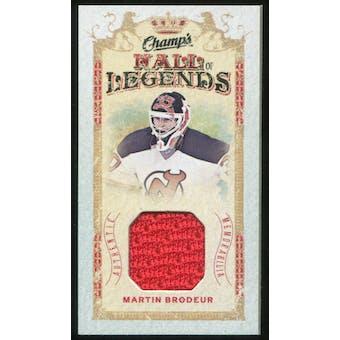 2009/10 Upper Deck Champ's Hall of Legends Memorabilia #HLMB Martin Brodeur