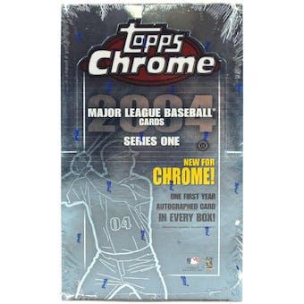 2004 Topps Chrome Series 1 Baseball Hobby Box
