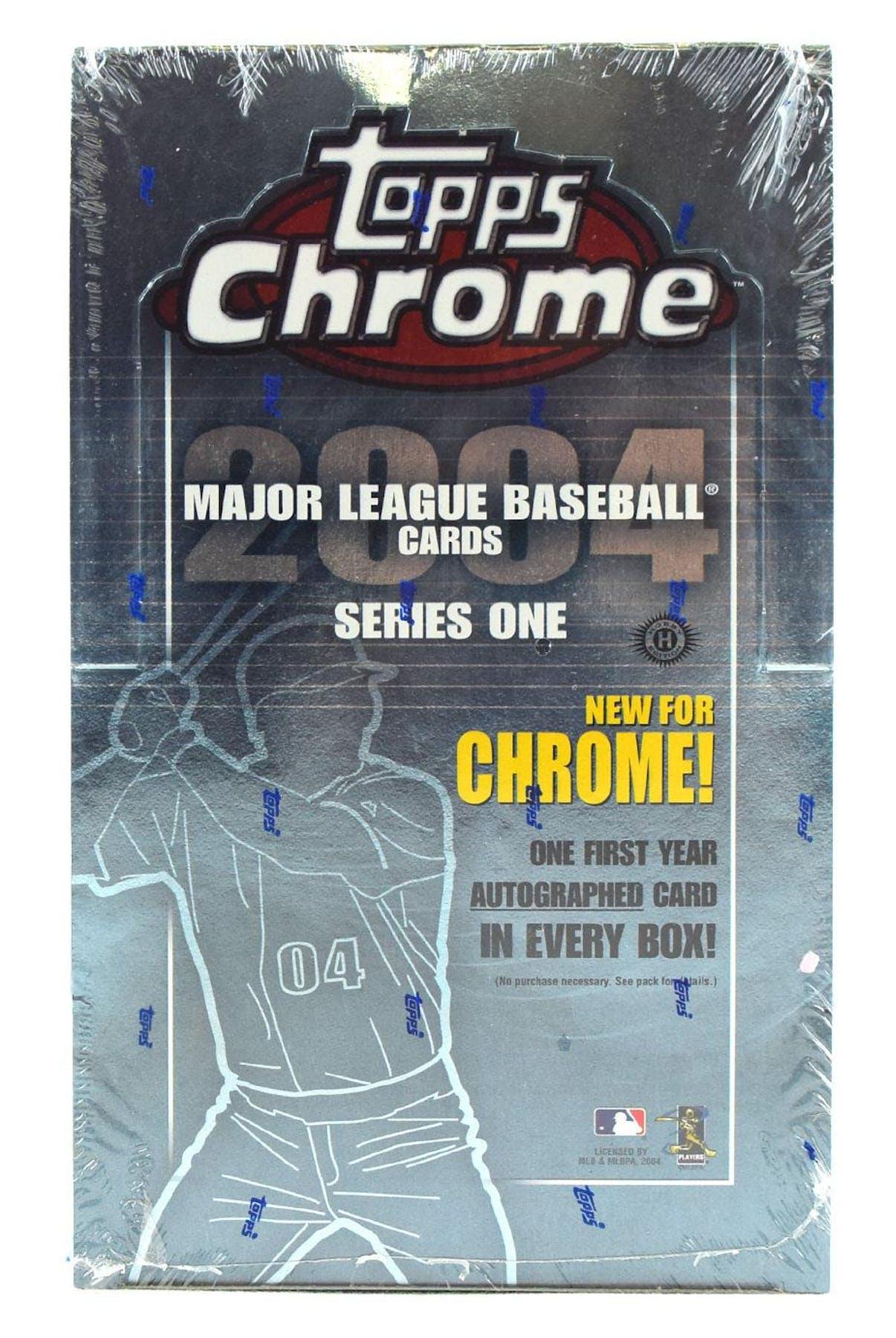 2004 Topps Chrome Series 1 Baseball Hobby Box Da Card