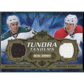 2008/09 Upper Deck Artifacts Tundra Tandems Gold #TTCR Jonathan Cheechoo Michael Ryder /25