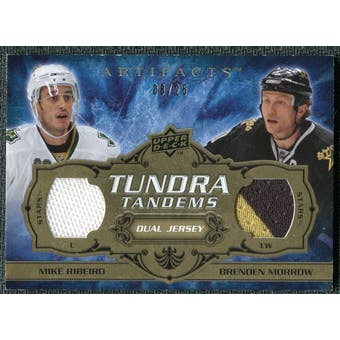 2008/09 Upper Deck Artifacts Tundra Tandems Gold #TTRM Mike Ribeiro Brenden Morrow /25