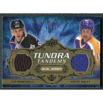 2008/09 Upper Deck Artifacts Tundra Tandems Gold #TTRS Luc Robitaille Steve Shutt /25