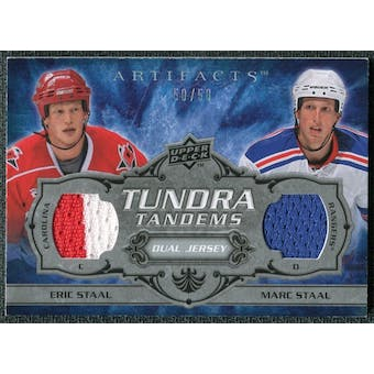 2008/09 Upper Deck Artifacts Tundra Tandems Silver #TTEM Eric Staal Marc Staal /50