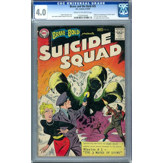 Brave and the Bold #25 CGC 4.0 (C-OW) *1332816009*