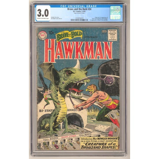 Brave and the Bold #34 CGC 3.0 (C-OW) *1332816010*