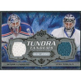 2008/09 Upper Deck Artifacts Tundra Tandems Silver #TTJL Henrik Lundqvist Vesa Toskala /50