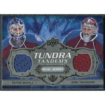 2008/09 Upper Deck Artifacts Tundra Tandems Silver #TTTB Jose Theodore Peter Budaj /50