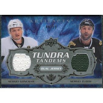 2008/09 Upper Deck Artifacts Tundra Tandems Silver #TTZG Sergei Zubov Sergei Gonchar /25