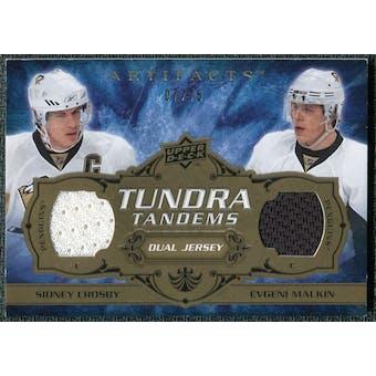 2008/09 Upper Deck Artifacts Tundra Tandems Bronze #TTCM Sidney Crosby Evgeni Malkin /75