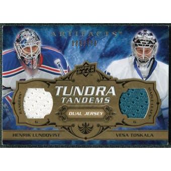 2008/09 Upper Deck Artifacts Tundra Tandems #TTJL Henrik Lundqvist Vesa Toskala /100