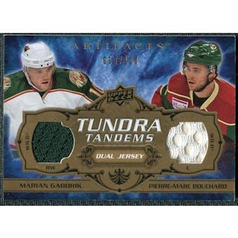 2008/09 Upper Deck Artifacts Tundra Tandems #TTMW Marian Gaborik Pierre-Marc Bouchard /100