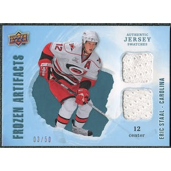 2008/09 Upper Deck Artifacts Frozen Artifacts Dual Blue #FADES Eric Staal /50