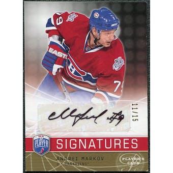 2008/09 Upper Deck Be A Player Signatures Player's Club #SMAR Andrei Markov Autographs /15