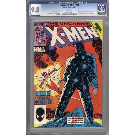 Uncanny X-Men #203 CGC 9.8 (W) *1337835018*