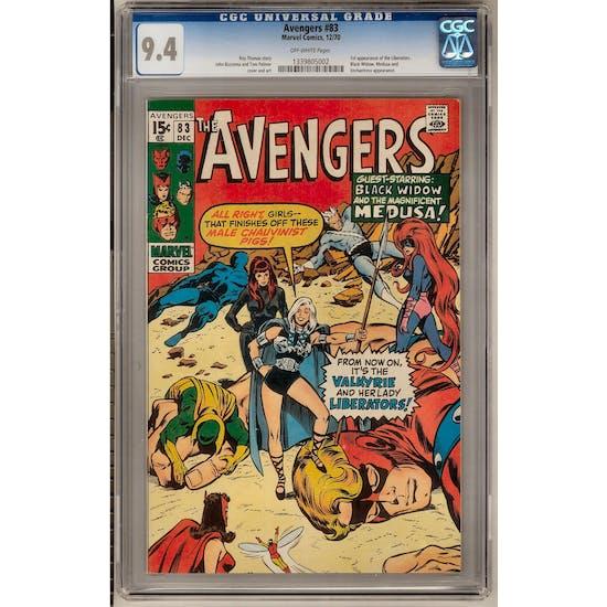 Avengers #83 CGC 9.4 (OW) *1339805002*