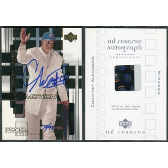 2000/01 Upper Deck UD Reserve BuyBacks #1 Courtney Alexander 00-1P&PPM Autograph /98