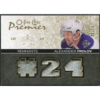 2007/08 Upper Deck OPC Premier Remnants Triples Patches #PRAF Alexander Frolov /35