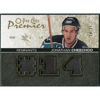 2007/08 Upper Deck OPC Premier Remnants Triples Patches #PRCH Jonathan Cheechoo /35