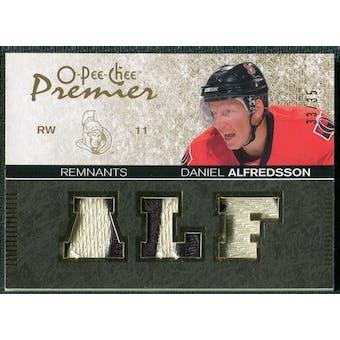 2007/08 Upper Deck OPC Premier Remnants Triples Patches #PRDA Daniel Alfredsson /35