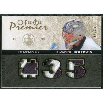 2007/08 Upper Deck OPC Premier Remnants Triples Patches #PRDR Dwayne Roloson /35