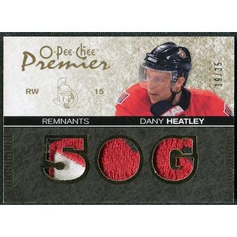 2007/08 Upper Deck OPC Premier Remnants Triples Patches #PRHE Dany Heatley /35