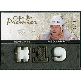 2007/08 Upper Deck OPC Premier Remnants Triples Patches #PRJA Jason Arnott /35