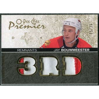 2007/08 Upper Deck OPC Premier Remnants Triples Patches #PRJB Jay Bouwmeester /35