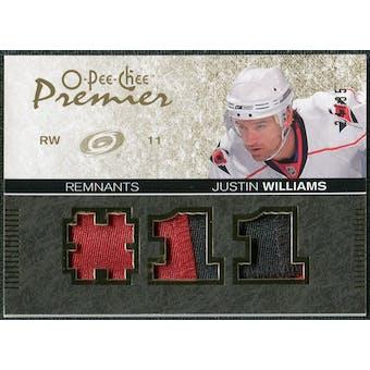 2007/08 Upper Deck OPC Premier Remnants Triples Patches #PRJW Justin Williams /35