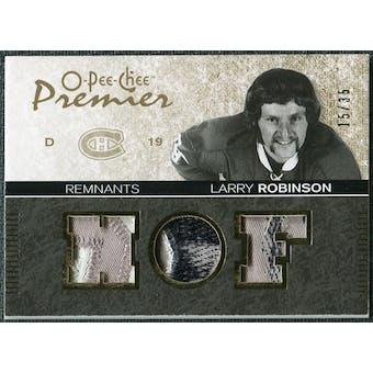2007/08 Upper Deck OPC Premier Remnants Triples Patches #PRLR Larry Robinson /35