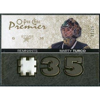 2007/08 Upper Deck OPC Premier Remnants Triples Patches #PRMT Marty Turco 32/35