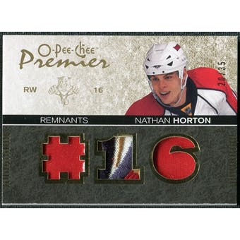 2007/08 Upper Deck OPC Premier Remnants Triples Patches #PRNH Nathan Horton 20/35