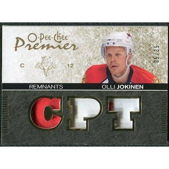 2007/08 Upper Deck OPC Premier Remnants Triples Patches #PROJ Olli Jokinen /35