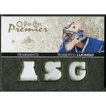 2007/08 Upper Deck OPC Premier Remnants Triples Patches #PRRL Roberto Luongo /35