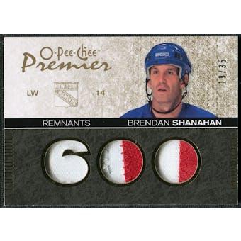 2007/08 Upper Deck OPC Premier Remnants Triples Patches #PRSH Brendan Shanahan /35