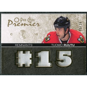 2007/08 Upper Deck OPC Premier Remnants Triples Patches #PRTR Tuomo Ruutu /35