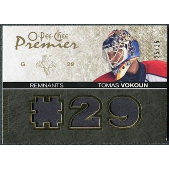 2007/08 Upper Deck OPC Premier Remnants Triples Patches #PRTV Tomas Vokoun /35