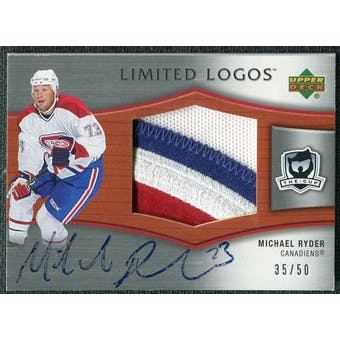 2005/06 Upper Deck The Cup Limited Logos #LLRY Michael Ryder Autograph /50