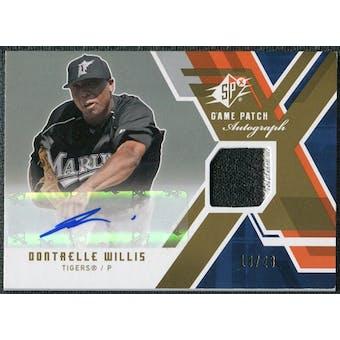 2009 Upper Deck SPx Game Patch Autographs #GJADW Dontrelle Willis Autograph /23
