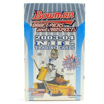 2003/04 Bowman Draft Picks & Prospects Hockey Hobby Box