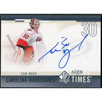 2010/11 Upper Deck SP Authentic Sign of the Times #SOTCW Cam Ward Autograph