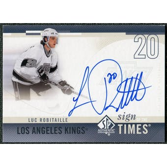 2010/11 Upper Deck SP Authentic Sign of the Times #SOTLR Luc Robitaille Autograph