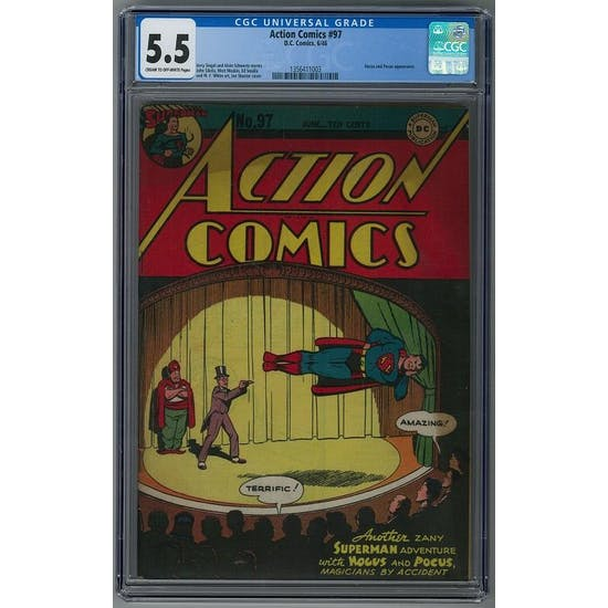 Action Comics #97 CGC 5.5 (C-OW) *1356411003*