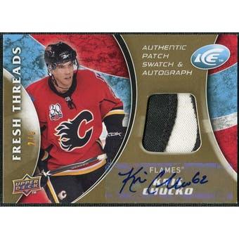 2009/10 Upper Deck Ice Fresh Threads Patches Autographs #FTKC Kris Chucko 2/5